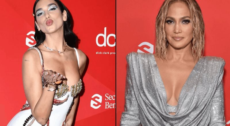 Dua Lipa, Jennifer Lopez y más llegan a los American Music Awards