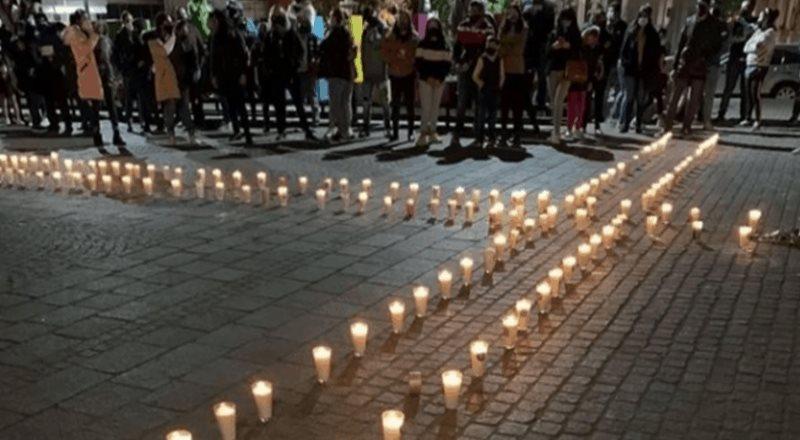 Con pintas y ofrenda, exigen justicia por asesinato de la niña Sofía