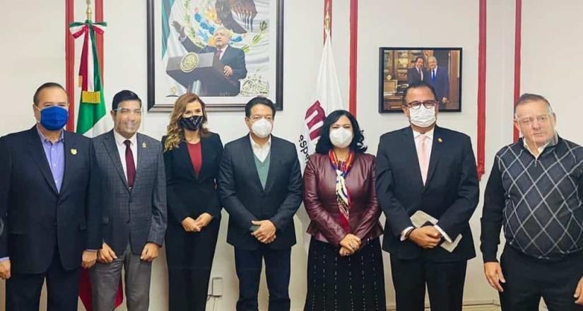 Alcalde de Tijuana y otros aspirantes por la Gubernatura de BC se reúnen con Mario Delgado