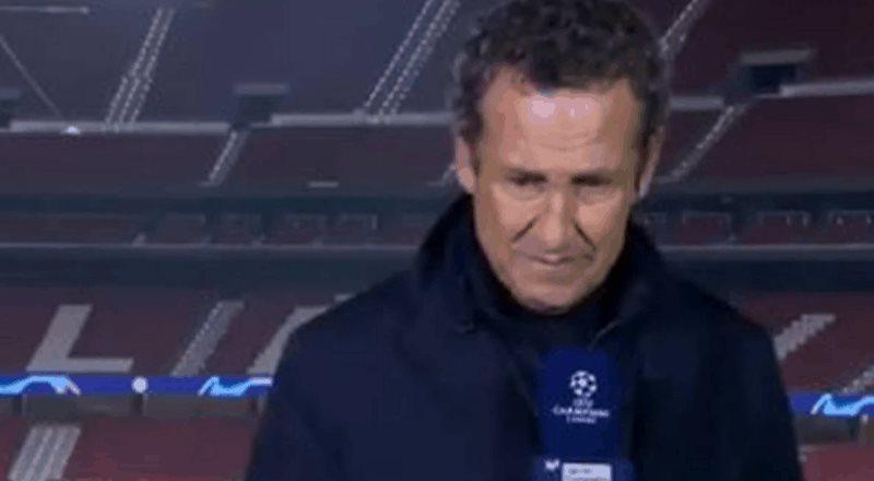 Valdano llora durante transmisión en vivo al recordar a Maradona