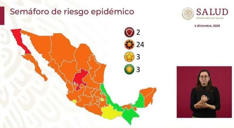 Baja California regresa al semáforo en ROJO