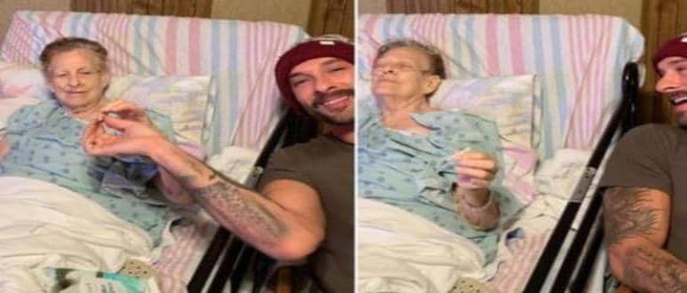 Abuela pasa las últimas horas de vida fumando marihuana con su nieto