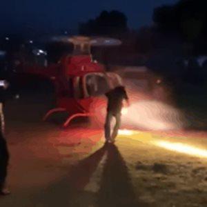 Difunden video en el que aspa de helicóptero golpea a empresario