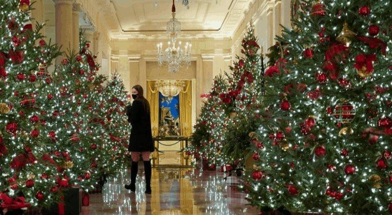 El homenaje de la decoración navideña en la Casa Blanca
