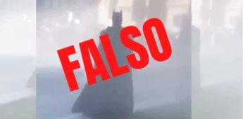 Falso vídeo en donde aparece alguien vestido como Batman en protestas del capitolio
