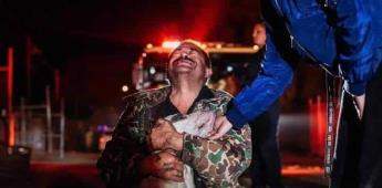 Mario llora de alegría de recuperar a su perro de incendio, aún cuando perdió su casa y carro en él
