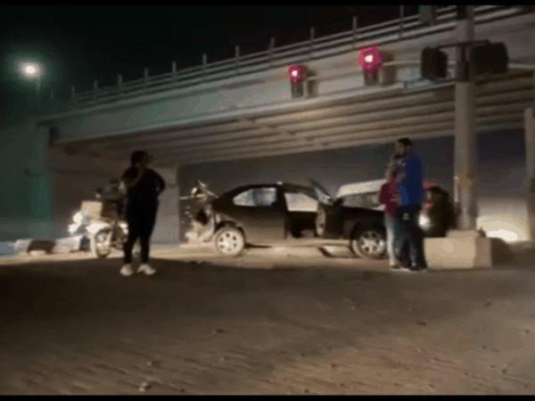 Se reportó choque en el puente del Murua, 4 vehículos fueron afectados