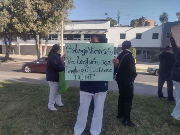 Se realiza manifestación de internos frente al Hospital General de Tijuana