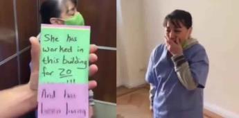 Vecinos regalan 2 años de renta en penthouse a empleada doméstica tras perder su trabajo