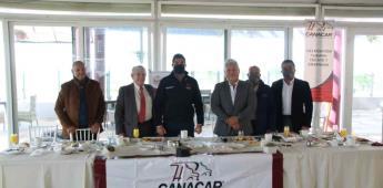 Sostiene Armando Ayala encuentro con la Cámara Nacional de Autotransportes de Carga (CANACAR)