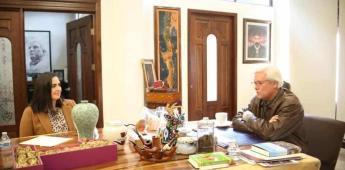 Sostiene Karla Ruíz Macfarnand reunión de trabajo con el Gobernador del Estado