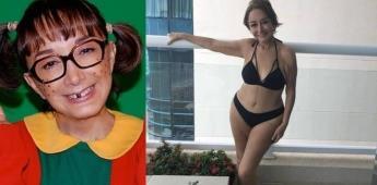 La chilindrina se destapa y posa en bikini a los 70 años.
