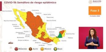 QR regresa al color amarillo en el Semáforo Epidemiológico Regional.