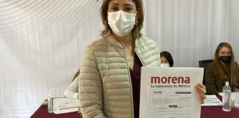Registran a Mónica Rangel como candidata de Morena en SLP.
