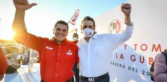 Alejandro Moreno tomó protesta a Mario Zamora como candidato del PRI al gobierno de Sinaloa