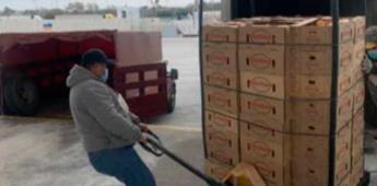 SAT dona 1.8 toneladas de tomate decomisado en aduana de Tamaulipas