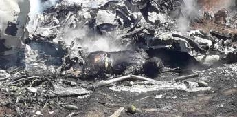 Se desploma aeronave LearJet 45 de la Fuerza Aérea Mexicana en Veracruz
