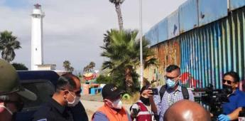Trabaja de forma activa personal de la dirección estatal de protección civil de Baja California.