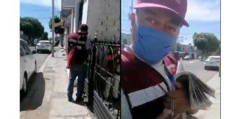 Encuestador de Morena golpea a ciudadano al interrumpir una presunta recaudación de información