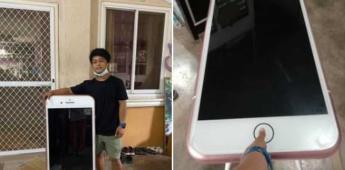 Usuario compró un iPhone por internet y recibió una mesa en forma de teléfono
