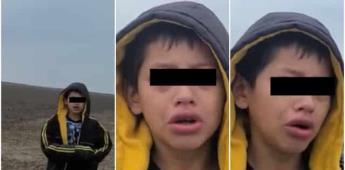 """""""Me dejaron botado""""; Patrulla Fronteriza de Estados Unidos encuentra niño migrante"""