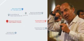 Google Maps le pone al aeropuerto de Santa Lucía Felipe Calderón