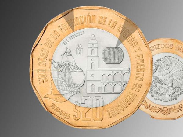 Banxico pone en circulación una nueva moneda de 20 pesos