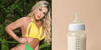 La modelo Andressa Urach sigue tomando leche en biberón