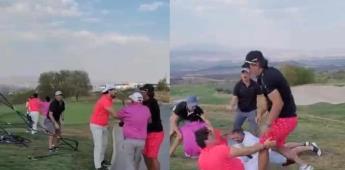 Pelea en campo de golf se hace viral