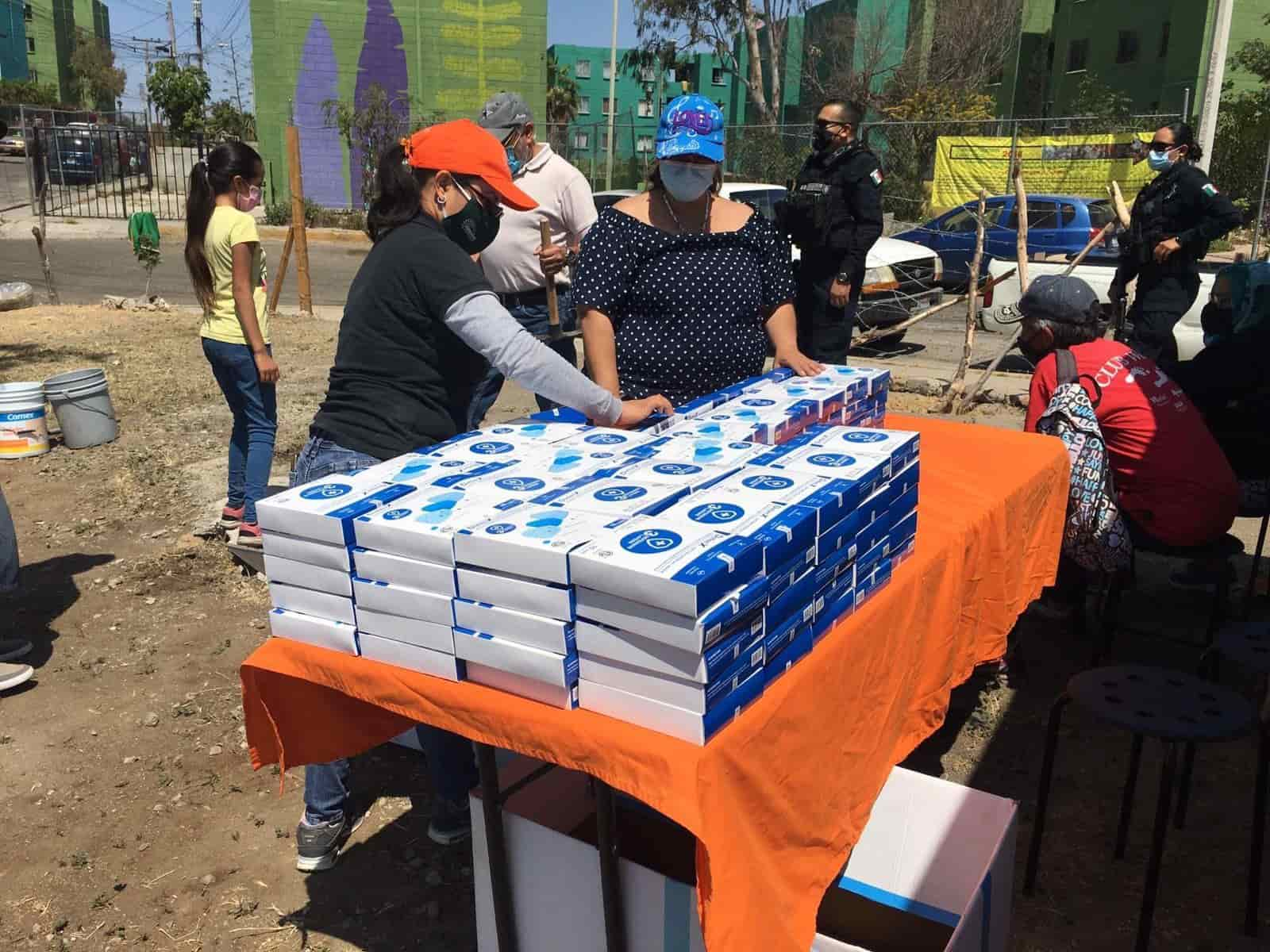 Reciben Policías Municipales donación de cubrebocas por parte de Alianza Civil.