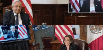 Conversa Presidente López Obrador con la Vicepresidenta de EEUU Kamala Harris sobre tema migratorio