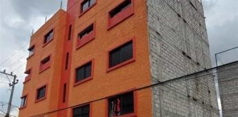Derriban edificio mal construido en Ecatepec