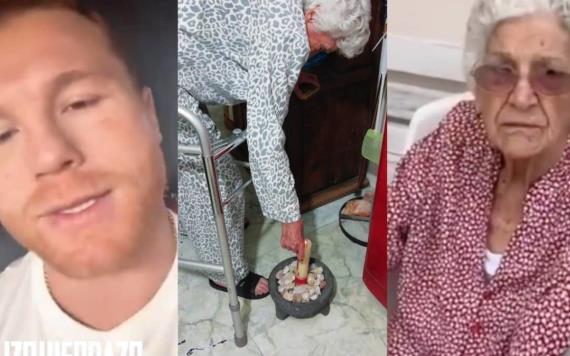 Canelo y el regalo de día de las madres a abuelita fanática