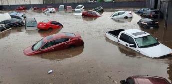 Lluvias provocan inundaciones en Toluca y Metepec