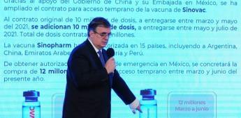 México participará en fase III de nueva vacuna china: Ebrard