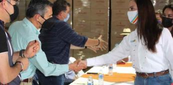 Ofrece Lupita Jones manejo eficiente de recursos para proyectos agrícolas.