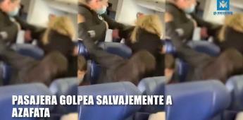 Pasajera golpea a azafata en pleno Avión, le tiró dos dientes