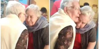 Sí te volví a ver: Hermanas de 90 años se reencuentran por primera vez desde la pandemia