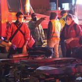 Camión turístico sufre aparatosa volcadura en Rosarito, dejando un saldo de 7 fallecidos
