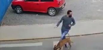 Hombre es atropellado por un perrito