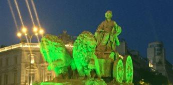 Monumentos de España y Latinoamérica se iluminan de verde por visibilización de la Esclerosis Lateral Amiotrófica