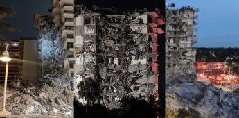 Se desploma parcialmente un edificio de 12 pisos en Miami Beach