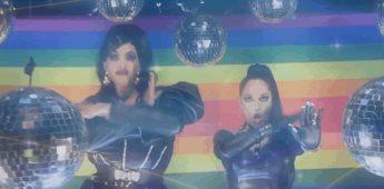 Critican a Tatiana por cantar y bailar con drag queen Velvetine