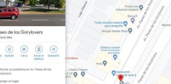 En Google Maps usuarios renombran calle como Avenida Gorylovers