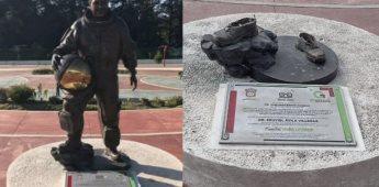 Roban estatua en honor al astronauta mexicano José Hernández