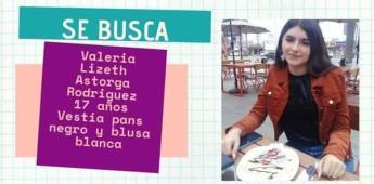 Se solicita el apoyo de la ciudadanía para localizar a Valeria Lizeth Astorga Rodríguez