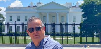 Senador Novelo mantiene encuentro con Esteban Moctezuma embajador de México en Estados Unidos