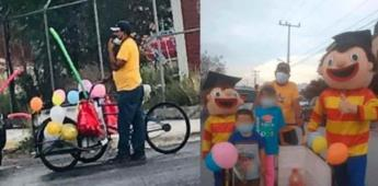 Abuelito adorna triciclo para celebrar graduación de su nieta