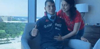 Reaparece Chucky Lozano tras lesión que lo mandó al hospital
