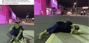 Mujer amenaza con dormir en una plaza tras perder y negarse a pagar su boleto de estacionamiento
